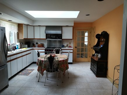 Dennis Cape Cod vacation rental - Kitchen with skylight and viking commercial gas stove