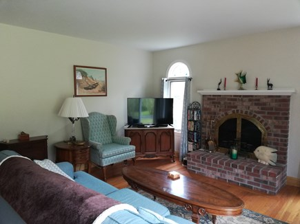 Dennis Cape Cod vacation rental - Living room from different angle showing flat screen tv and wifi