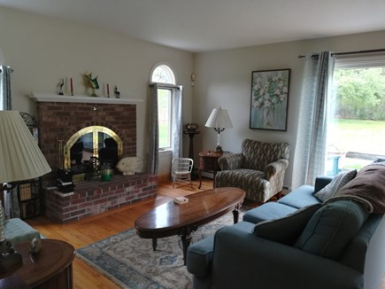 Dennis Cape Cod vacation rental - Living room looking out to slider