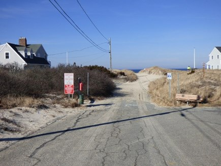 East Dennis Cape Cod vacation rental - View down the street of Sea St. Beach just steps away