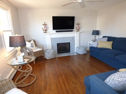 East Dennis Cape Cod vacation rental - Living room with plenty of seating and Flat screen TV