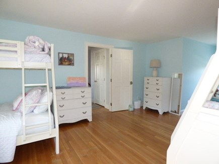 East Dennis Cape Cod vacation rental - 3rd bedroom on 2nd floor with 2 sets of bunk beds & single bed