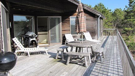 Truro Cape Cod vacation rental - Large Deck