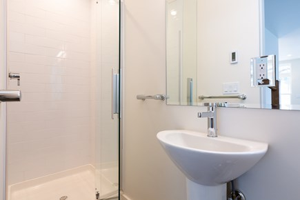 Provincetown Cape Cod vacation rental - Main level full bath with stand up shower