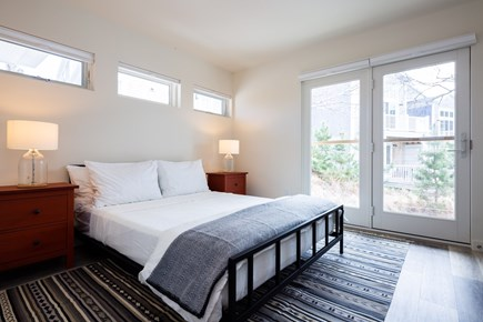 Provincetown Cape Cod vacation rental - Bedroom 1 with juliette balcony and queen bed