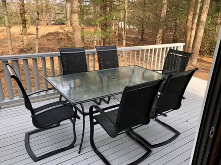 Falmouth Cape Cod vacation rental - Deck with patio table and grill