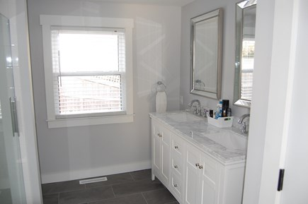 West Yarmouth Cape Cod vacation rental - Spacious master bath w/double vanity
