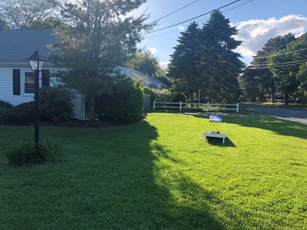West Yarmouth Cape Cod vacation rental - Big side yard for playing games/extra driveway
