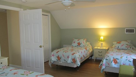 Eastham Cape Cod vacation rental - Second Floor Queen with 2 Twins