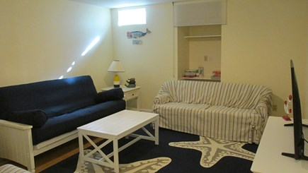 Eastham Cape Cod vacation rental - Basement TV Area