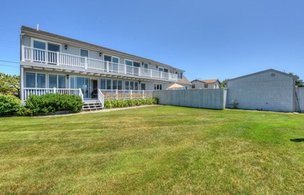 Sandwich, Sagamore Beach Cape Cod vacation rental - Back of house with 2 levels of decks