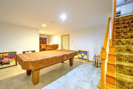 East Sandwich Cape Cod vacation rental - Basement pool table