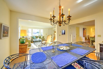 East Sandwich Cape Cod vacation rental - View from Dining room to Kitchen and Living room