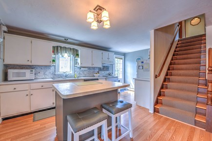 East Sandwich Cape Cod vacation rental - Kitchen with bar top island