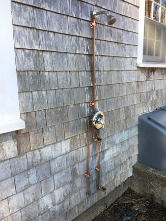 Eastham Cape Cod vacation rental - Outdoor shower with new plumbing.