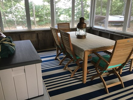 Eastham Cape Cod vacation rental - Porch table for indoor-outdoor living