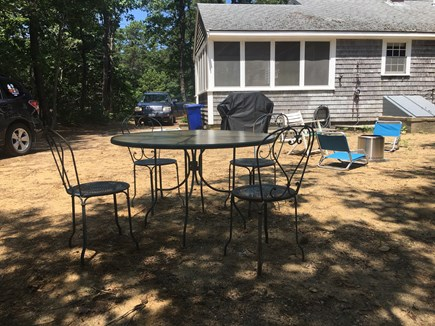 Eastham Cape Cod vacation rental - Backyard seating