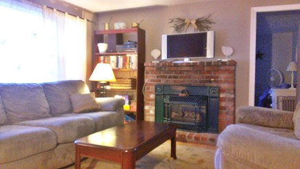 Hyannis-West Hyannis Port Cape Cod vacation rental - Living room. For 2019: Brand new 50 inch tv. Premium Cable