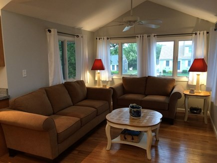 Dennis Port Cape Cod vacation rental - Living with flat screen, cable, and wifi