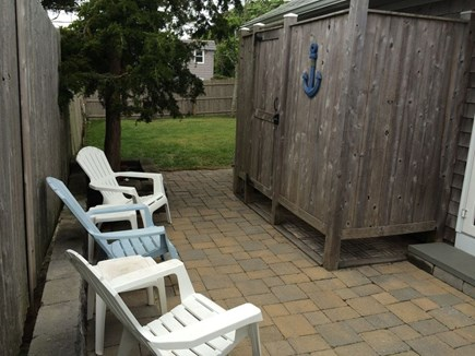 Dennis Port Cape Cod vacation rental - Outside shower with dressing room on patio