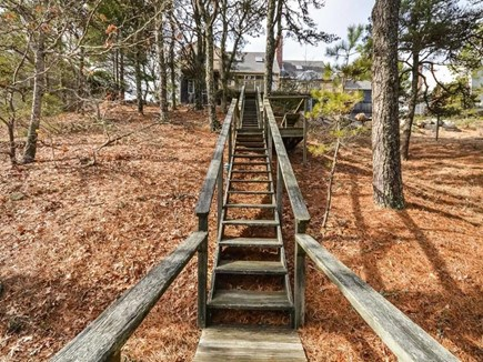 Harwich Cape Cod vacation rental - Stairs to Pond from House