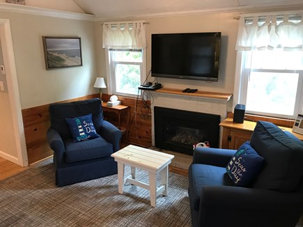 Dennis Port Cape Cod vacation rental - Flat screen and gas fireplace