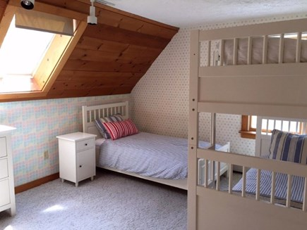West Falmouth/Old Silver Beach Cape Cod vacation rental - Kids room or bedroom 3 with 3 twin beds!