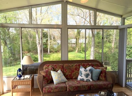 West Falmouth/Old Silver Beach Cape Cod vacation rental - The 3 season porch will likely be your favorite spot!