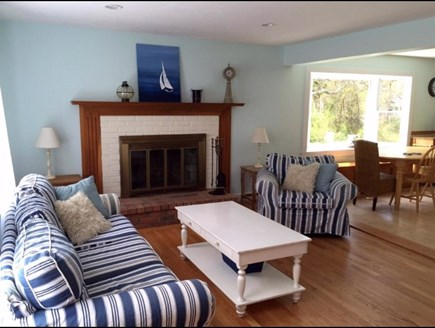 West Falmouth/Old Silver Beach Cape Cod vacation rental - 1 of 2 living rooms on the main floor.