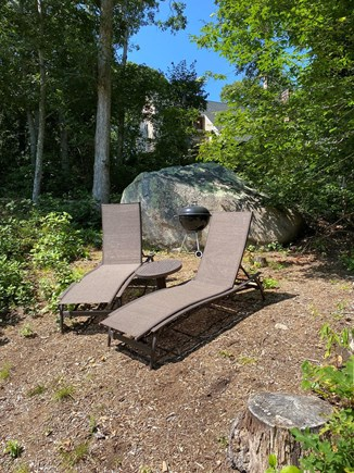 Woods Hole Cape Cod vacation rental - Backyard with Weber charcoal grill