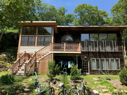 Woods Hole Woods Hole vacation rental - Entry on both floors. Enclosed outdoor shower.
