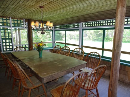 South Yarmouth Cape Cod vacation rental - OH. Favorite spot to dine, screened porch 550