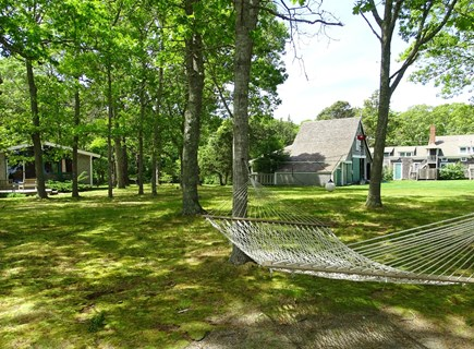South Yarmouth Cape Cod vacation rental - Large yard showing OH, Bt. Hse, & Baby Bt. Hse.  574