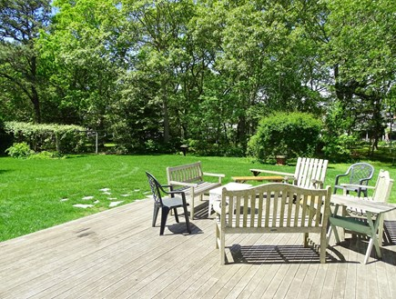South Yarmouth Cape Cod vacation rental - OH Large deck and back yard   547