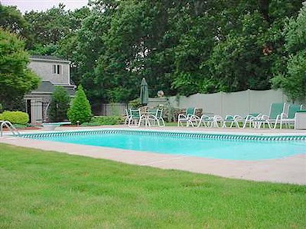 Eastham Cape Cod vacation rental - Backyard view of pool