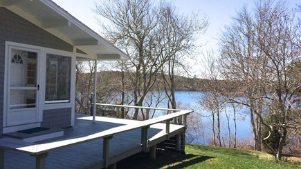 Orleans Cape Cod vacation rental - Deck overlooking the lake