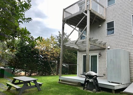 Orleans Cape Cod vacation rental - Back yard, Outdoor shower & Picnic table