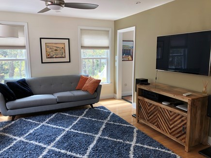 Wellfleet Cape Cod vacation rental - Cozy Living Room with many HD streaming video options.