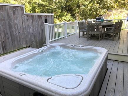 Wellfleet Cape Cod vacation rental - Enjoy a relaxing soak on the deck.