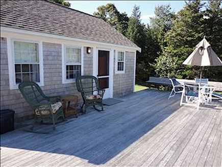 Orleans Cape Cod vacation rental - Front deck