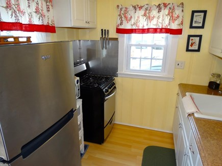 South Yarmouth Cape Cod vacation rental - Kitchen with stainless  appliances, microwave, coffee maker