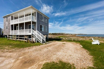 Barnstable  Cape Cod vacation rental - Outside of house.  Unobstructed ocean views East to West.