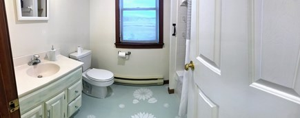 Barnstable  Cape Cod vacation rental - Full bathroom with shower and tub with jets.