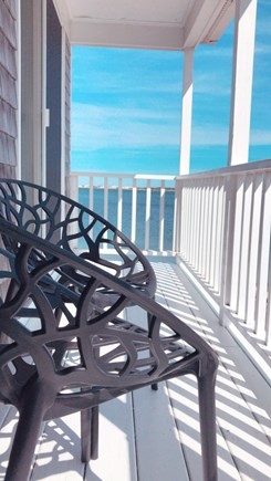 Barnstable  Cape Cod vacation rental - Two seating areas on the oceanfront upper balcony