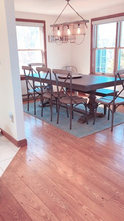 Barnstable  Cape Cod vacation rental - A comfortable dining room with oceanfront views.