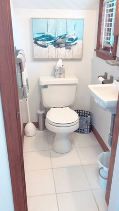 Barnstable  Cape Cod vacation rental - First floor has a half bathroom.