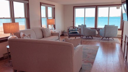 Barnstable  Cape Cod vacation rental - First-floor open floor plan with surrounding oceanfront views!