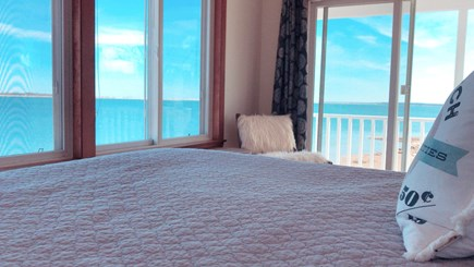 Barnstable  Cape Cod vacation rental - Master bedroom oceanfront views looking East.