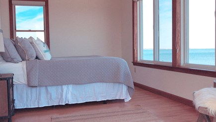 Barnstable  Cape Cod vacation rental - Master bedroom oceanfront views looking West