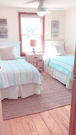 Barnstable  Cape Cod vacation rental - 2 coastal and cozy twin beds with West oceanfront views.